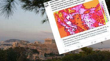 Grecja. Temperatura nawet do 47 stopni Celsjusza w cieniu. Największa fala gorąca od ponad 30 lat