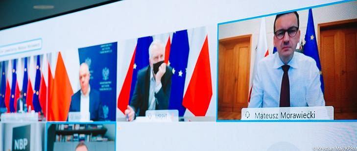 Wideokonferencja premiera Mateusza Morawieckiego