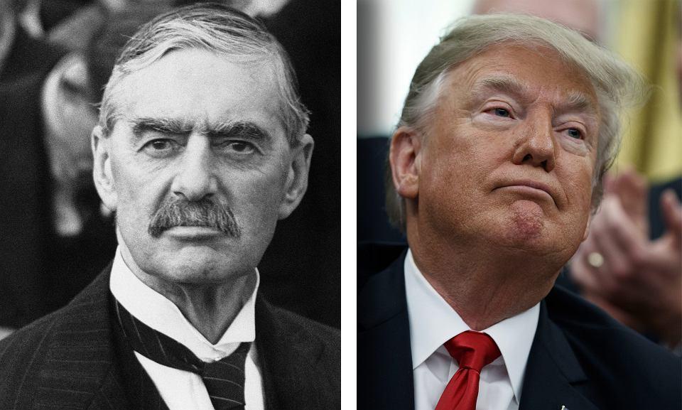 Neville Chamberlain i Donald Trump