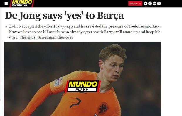Frenkie De Jong wybrał Barcelonę
