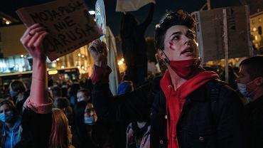 Protest po wyroku TK ws. aborcji