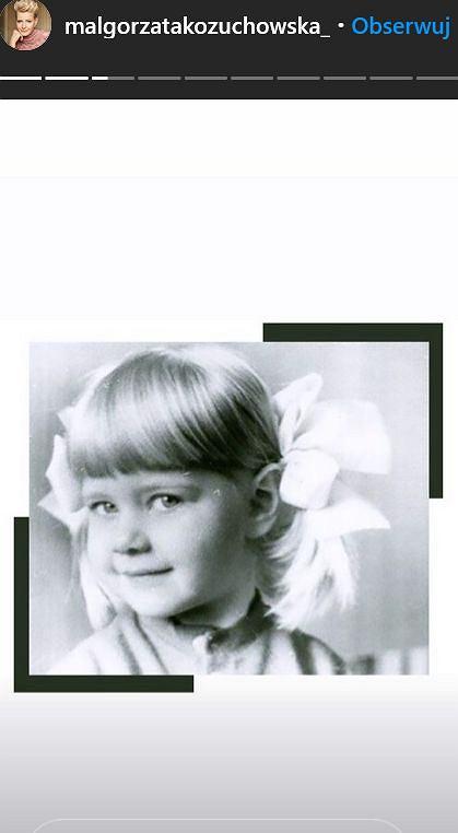 Małgorzata Kożuchowska w dzieciństwie