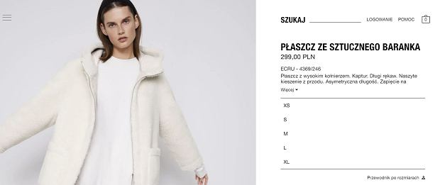 Płaszcz ze sztucznego baranka - Zara