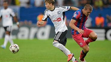Steaua - Legia. Jakub Kosecki