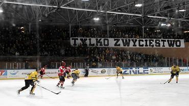 Katowiccy hokeiści w meczu przeciwko Cracovii