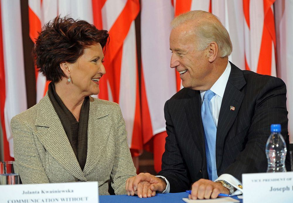 Joe Biden i Jolanta Kwaśniewska