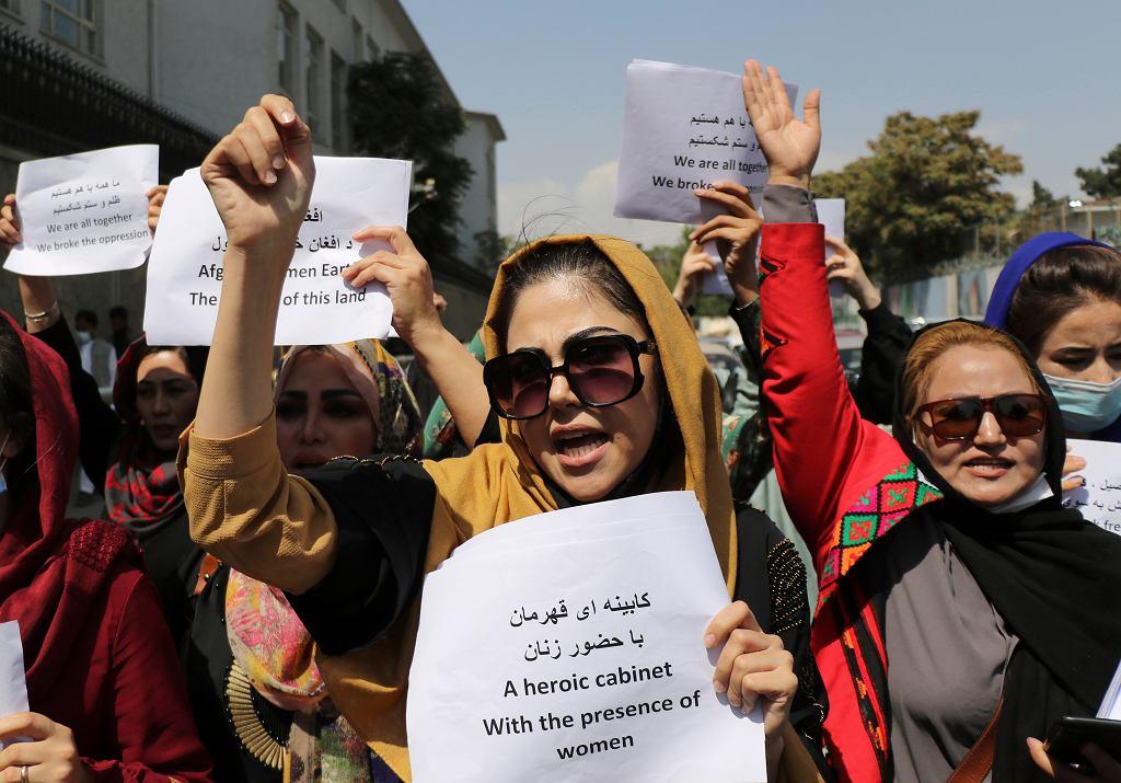 Protest kobiet w Kabulu