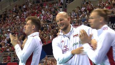 Bartosz Kurek podczas meczu z Belgią
