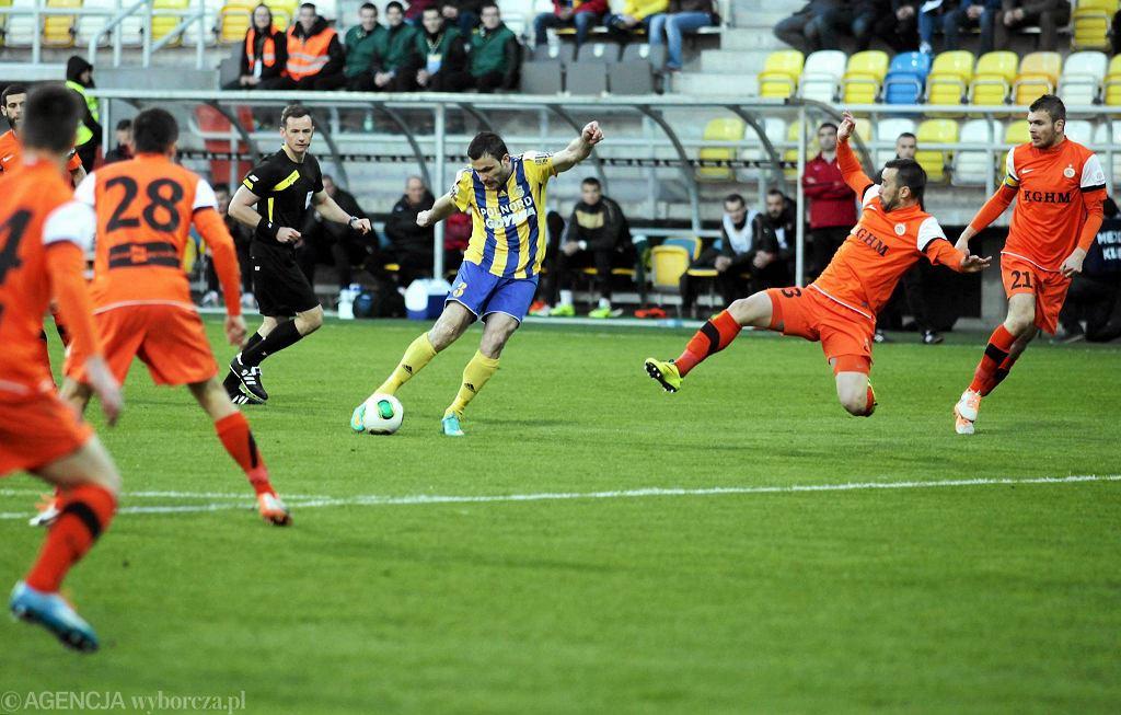 Arka - Zagłębie 0:0 w Pucharze Polski. Krzysztof Sobieraj