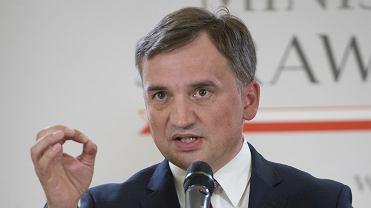 Konferencja prasowa ministra sprawiedliwości Zbigniewa Ziobry