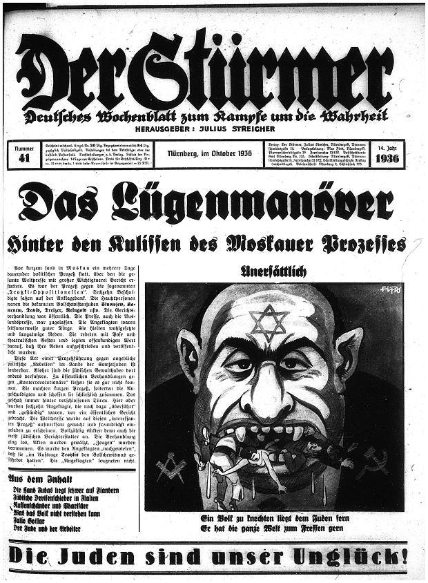 Jedna z grafik z 'Der Sturmera', 1936 r.