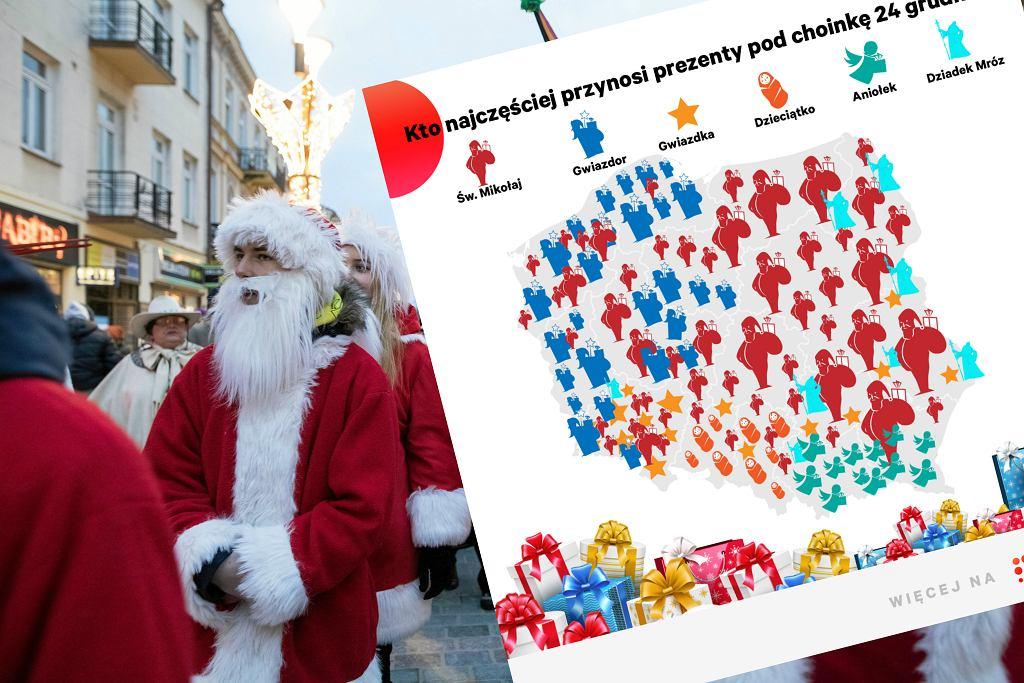 Kto przynosi prezenty na 24 grudnia w różnych regionach w Polsce?