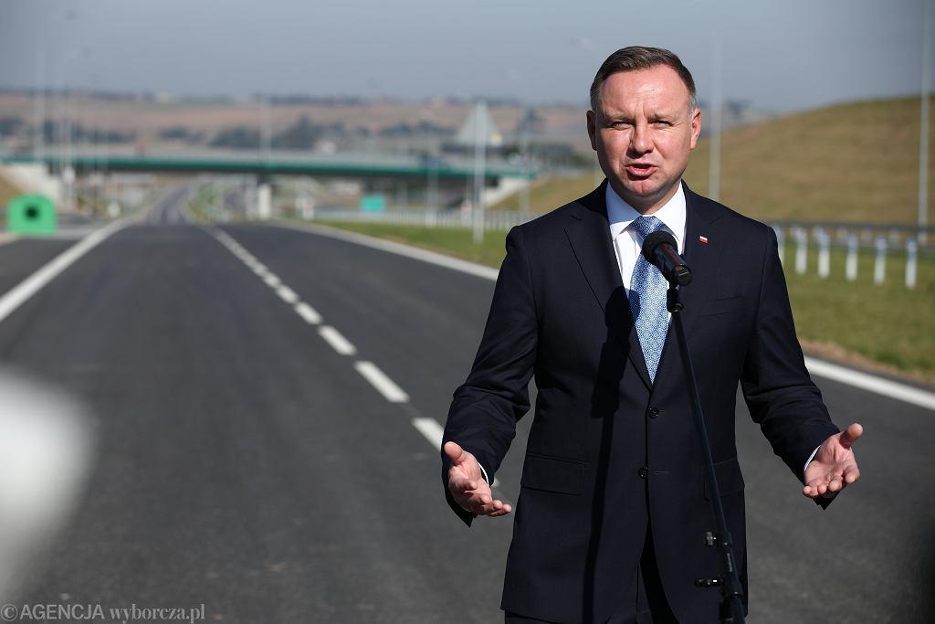 Otwarcie drogi S7 w Widomej