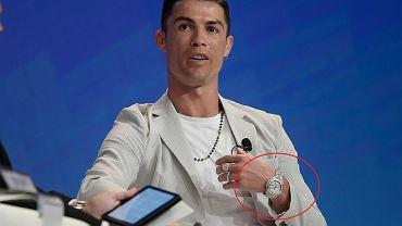 Cristiano Ronaldo z zegarkiem