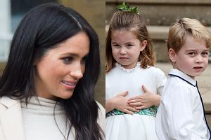 Meghan Markle, książę George, księżniczka Charlotte