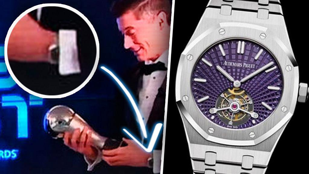 Zegarek, który Robert Lewandowski miał na sobie podczas gali FIFA The Best