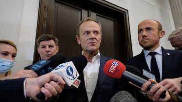 Spotkanie Donalda Tuska z klubem parlamentarnym Platformy Obywatelskiej, 13.10.2021