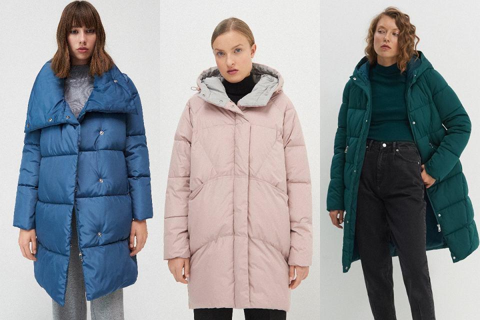Kolorowe płaszcze puchowe
