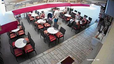 Kadr z nagrania z restauracji