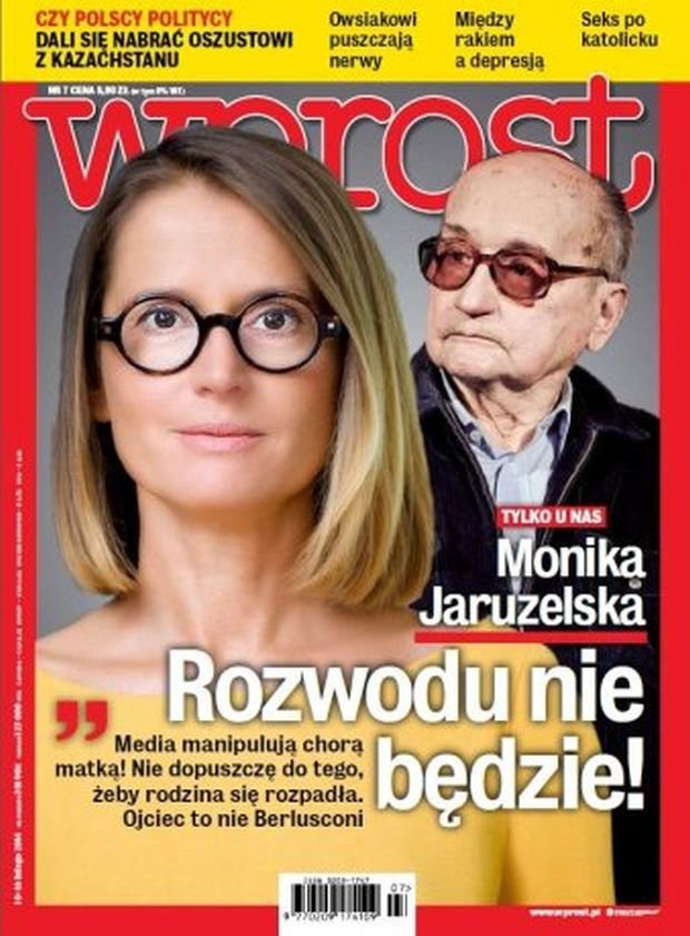 Monika Jaruzelska i Wojciech Jaruzelski