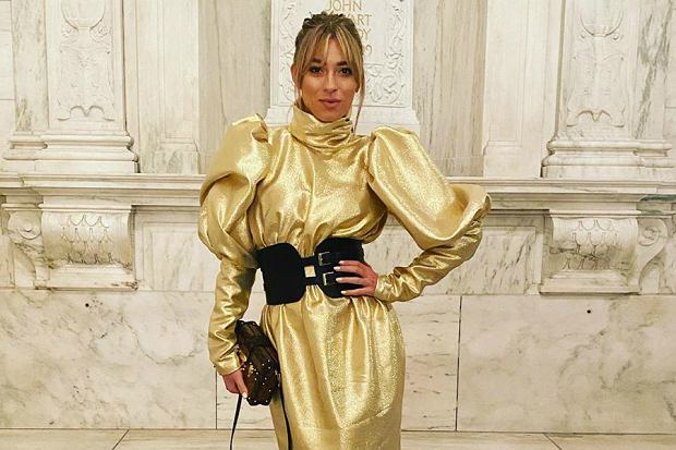 zawadzka złota sukienka