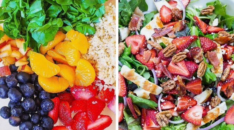 Przepisy na lekkie sałatki z dodatkiem owoców