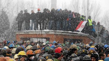 Demonstracja przed siedzibą Jastrzębskiej Spółki Węglowej