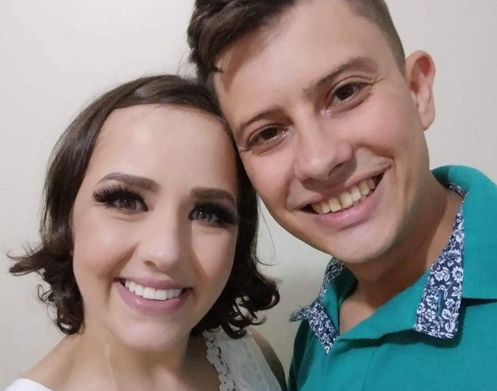 Adarlele Ribas de Andrade z mężem