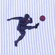Koszule Emanuel Berg: nowa kolekcja Sporty Lifestyle. Cena: 299 zł. Motyw piłkarza wyhaftowany na lewej piersi, kolekcje, moda męska, koszule męskie