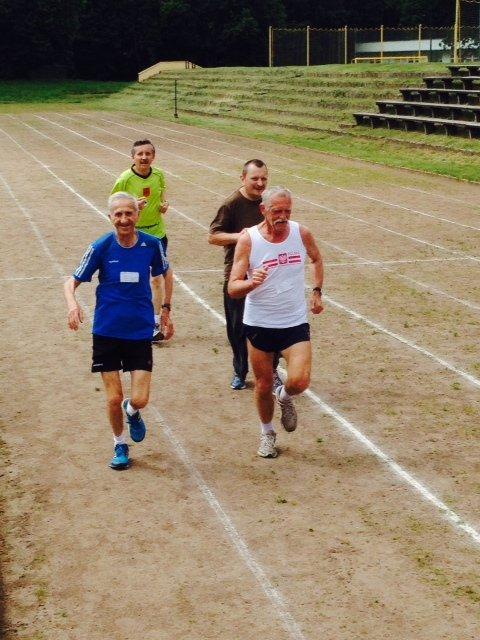 Jan Morawiec podczas Sportowego Pikniku dla Seniorów