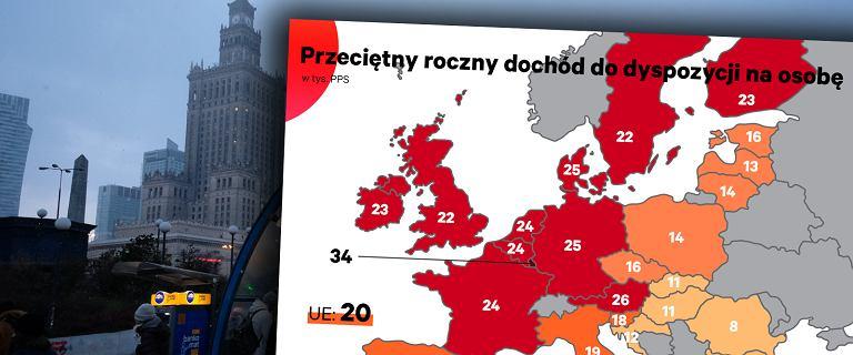 Stopa życiowa Polaków wypada dość blado na mapie UE [WYKRES DNIA]