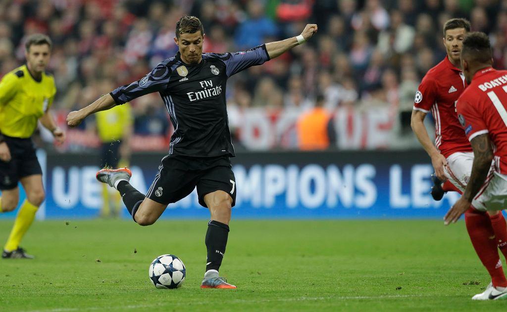 Liga Mistrzów. Cristiano Ronaldo w meczu Bayern - Real Madryt.