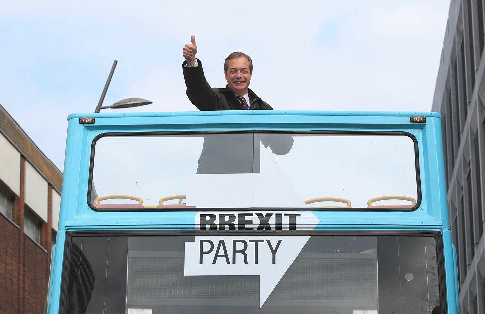 Prawicowy populista Nigel Farage, przywódca partii Brexit