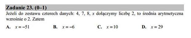 Matura poprawkowa 2016 matematyka, Zad. 23