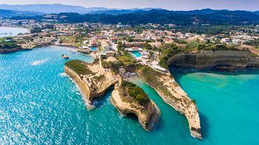 Skały Canal D'Amour w Sidari na Korfu