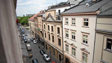 Widok z muzeum historycznego na Hotel Stary