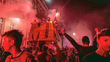 Feta po zdobyciu mistrzostwa Polski przez Piast Gliwice