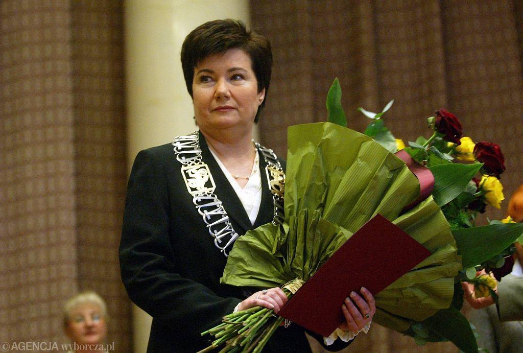 Hanna Gronkiewicz-Waltz podczas zaprzysiężenia
