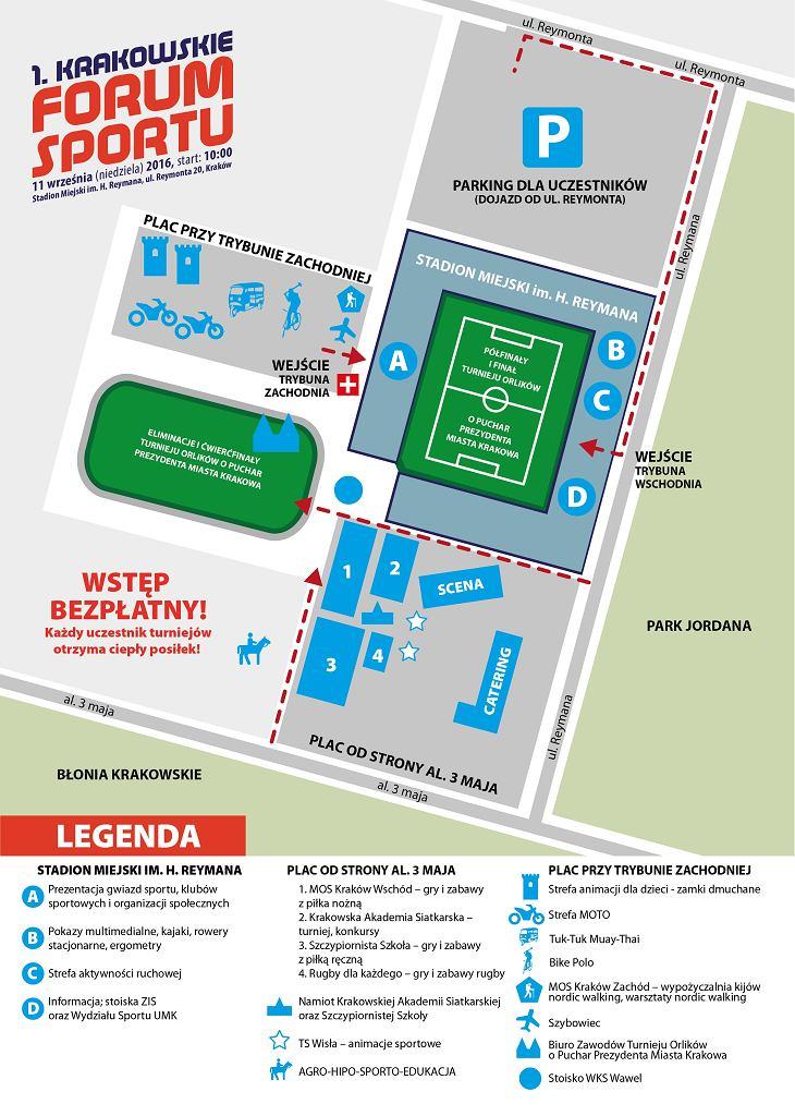Mapa Krakowskiego Forum Sportu