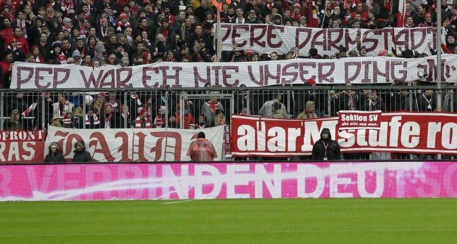 Transparent kibiców Bayernu