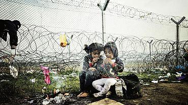 Uchodźcy na pograniczu grecko-macedońskim