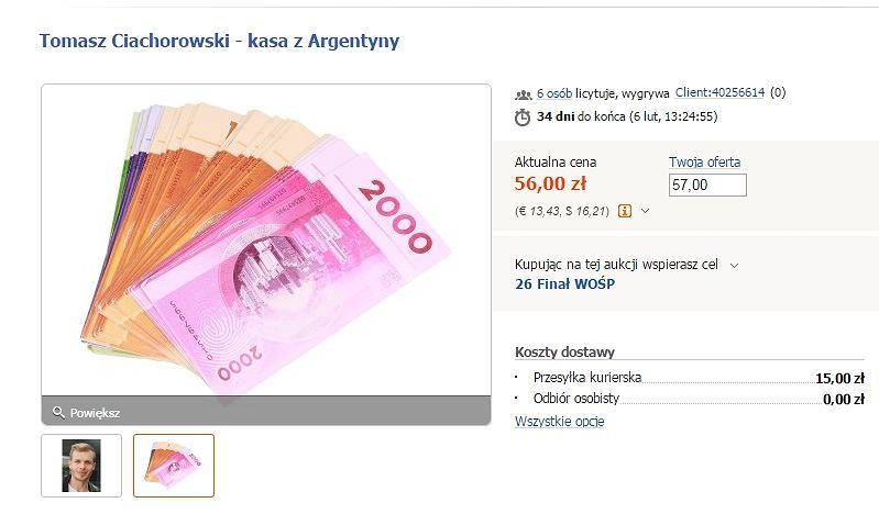 Pieniądze wykonane na potrzeby programu 'Agent-Gwiazdy'