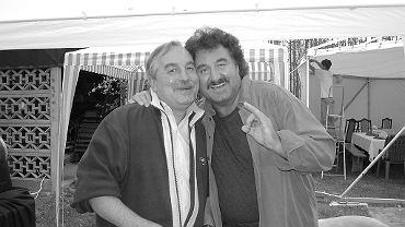 Andrzej Krawczyk z bratem Krzysztofem Krawczykiem