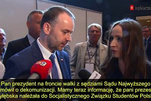 Julia Przyłębska w komunistycznej młodzieżówce. Prezydentowi to nie przeszkadza?