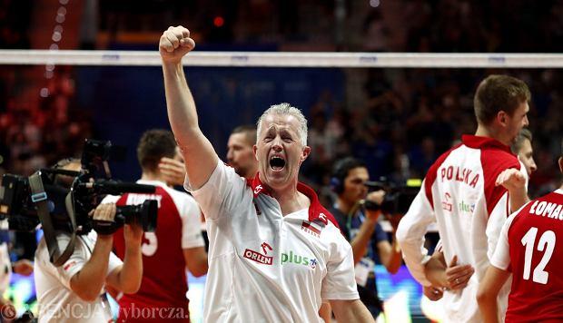 Trener Vital Heynen po meczu finałowym Mistrzostw Świata w siatkówce: Polska  - Brazylia.
