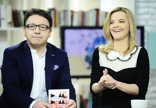 n/z Zbigniew Zamachowski Monika Richardson    Nagranie programu Telewizji Polskiej TVP2