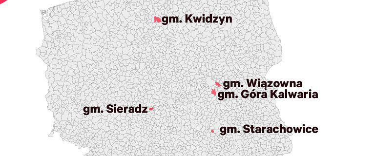 W tych gminach wyniki pierwszej tury wyborów były najbliższe całej Polsce
