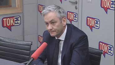 Robert Biedroń w studiu TOK FM.
