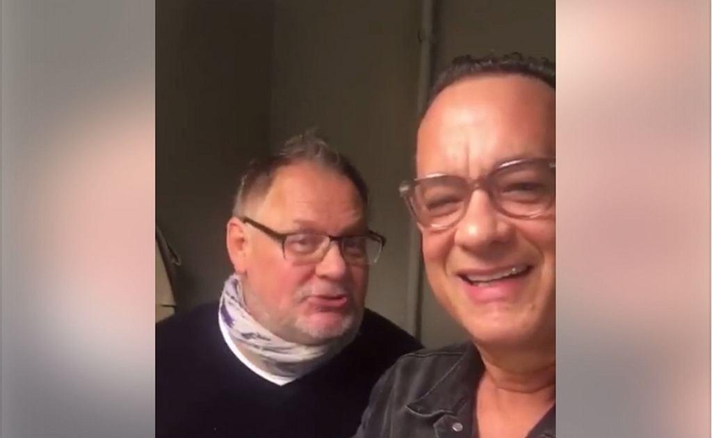 Tom Hanks i Janusz Kamiński składają życzenia pani Monice