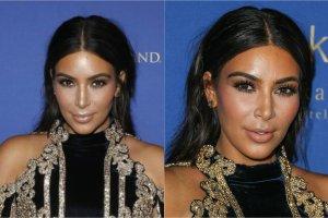 Kim Kardashian w czasie swojej drugiej ciąży przytyła aż 30 kilogramów. Celebrytka nie ukrywała, że po urodzeniu pierwszego dziecka miała duży problem z powrotem do formy, jednak teraz szybko udało się jej zrzucić większość nadbagażu. Kardashian nie osiada na laurach i nadal planuje schudnąć jeszcze prawie 10 kilo. Gwiazda sama robi sobie chyba jednak krzywdę, dobierając do swojej trudnej sylwetki niezbyt udane kreacje. Wczoraj Kim pojawiła się na 3. urodzinach klubu Hakkasan w Las Vegas i... nie zachwyciła. Widać, że schudła już ponad 20 kilogramów?